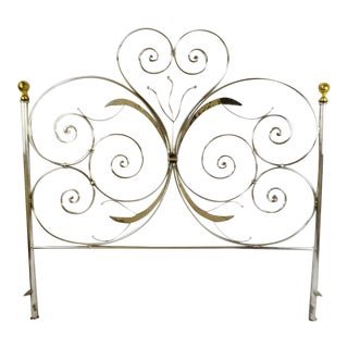 Custom Handcrafted Hammered and Wrought Metal King Headboard