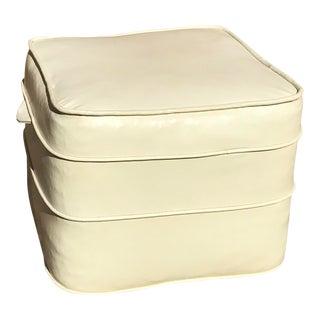 Mid-Century Hassock Cream Footstool