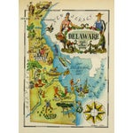Image of Vintage Delaware Pictorial Map, 1946