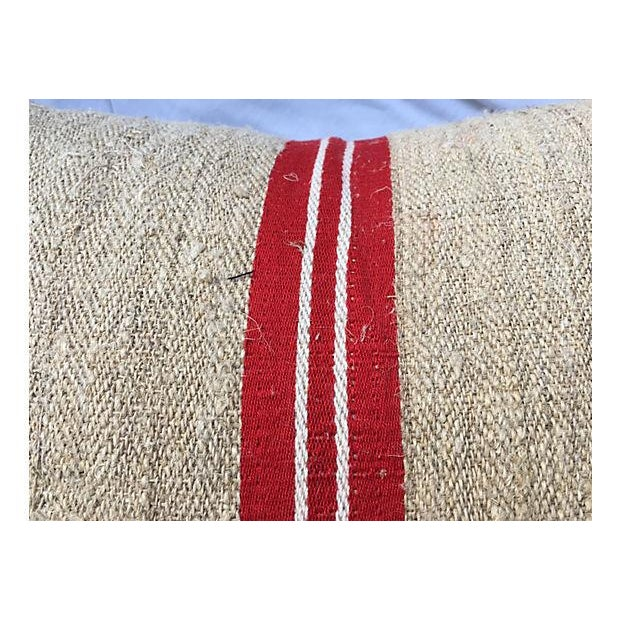 Image of Vintage French Grain Sack Pillows - Set of 3