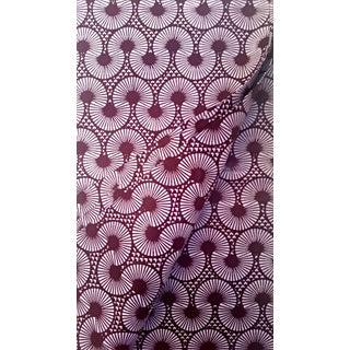 Burgundy Pink African Wax Print Fabric - 2 Yards