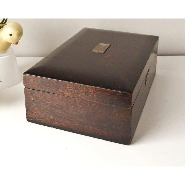 Vintage Wood Jewelry Trinket Box - Image 2 of 9