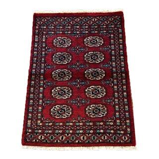 "Hand Woven Bukhara Oriental Rug - 2'1"" X 2'11"""