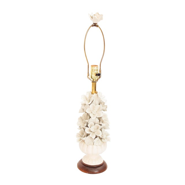 Image of Porcelain Lamp With Floral Pattern