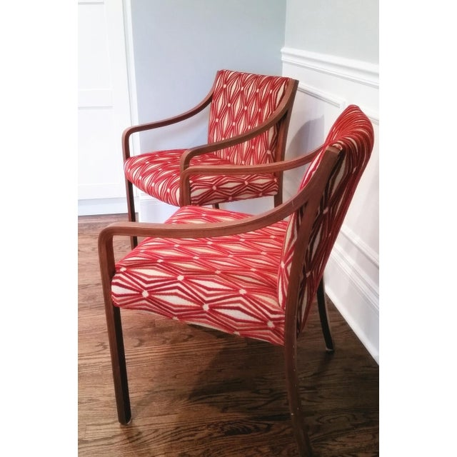 Stow Davis Velvet Geometric Chairs - A Pair - Image 8 of 8