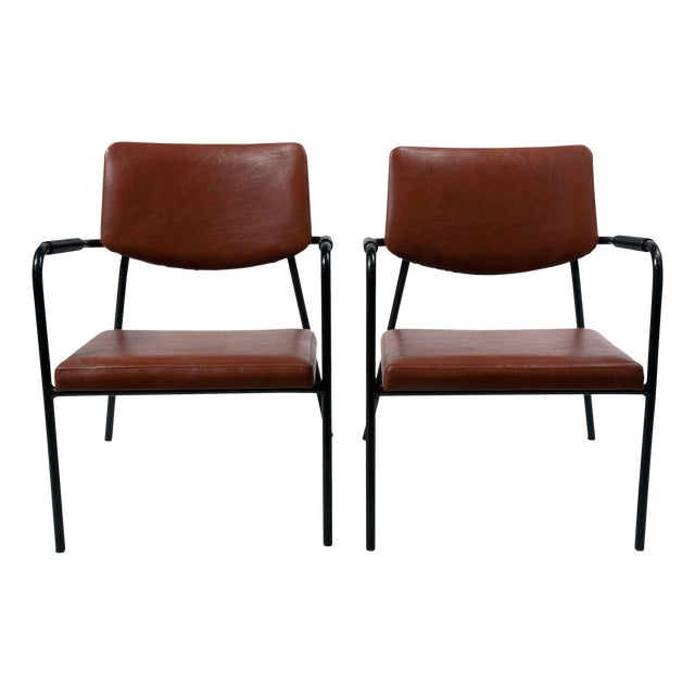 1950s Leather Armchairs - A Pair - Image 1 of 7