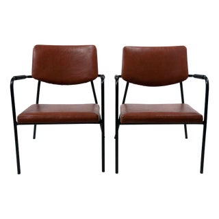 1950s Leather Armchairs - A Pair