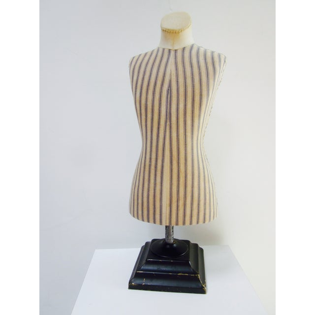 Antique French Miniature Dress Form Mannequin - Image 3 of 11