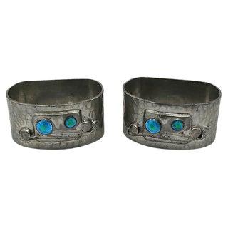 English Arts & Crafts Napkin Rings- A Pair