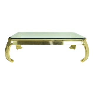 Karl Springer Brass Coffee Table