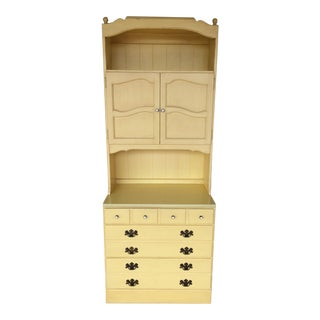 Ethan Allen Daffodil 5-Drawer Chest with Top Hutch 411