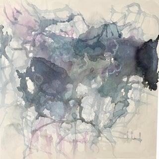 """""""Indigo Waves"""" Watercolor Painting"""