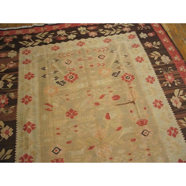 "Vintage Besserabian Flat-Weave - 6'7"" x 9'5"" - Image 4 of 5"