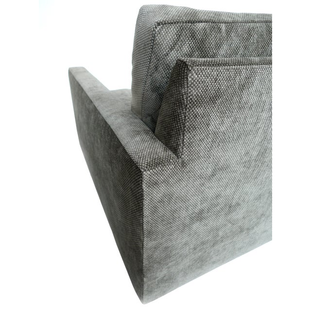 Image of 1970s Milo Baughman Gray Cube Chair