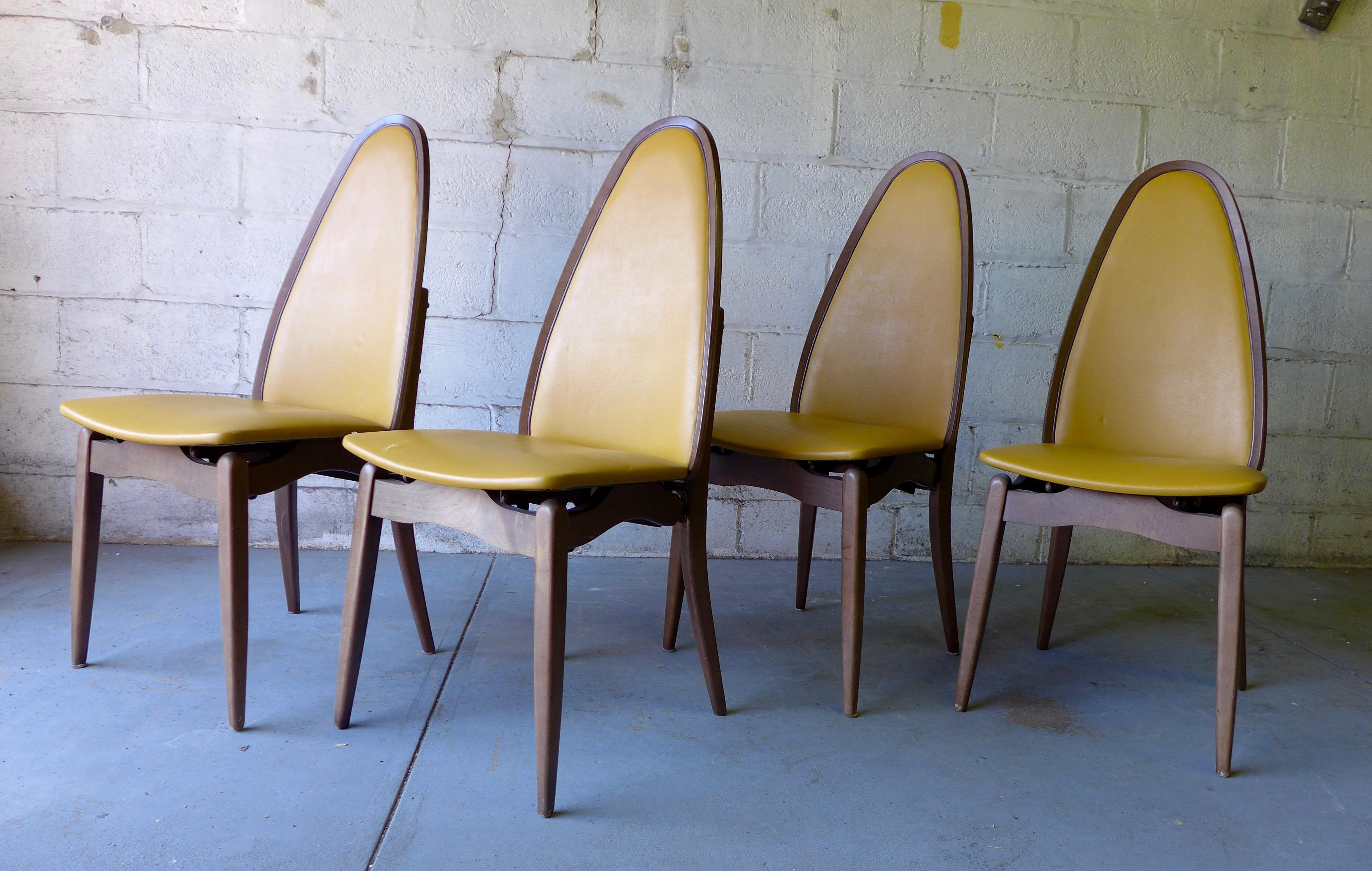 stakmore midcentury folding dining chairs set of 4 image 2 of 9