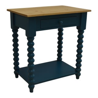 Teal Spindle Side Table