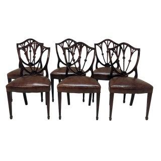 English Mahogany Dining Chairs - Set of 8