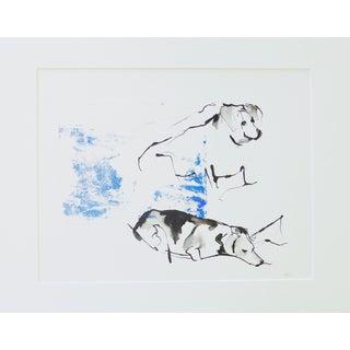 "Martha Holden ""Beagles"" Watercolor Drawing"