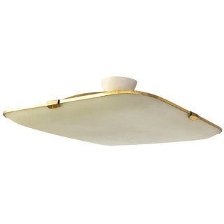 Large Frosted Glass Fontana Arte Flush Mount Model 1486/1