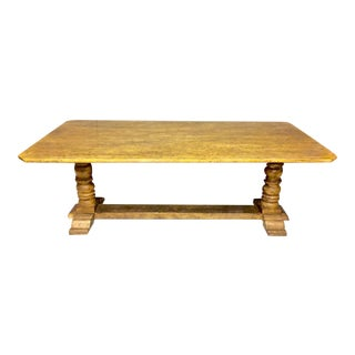 Tuscan Style Trestle Base Dining Table