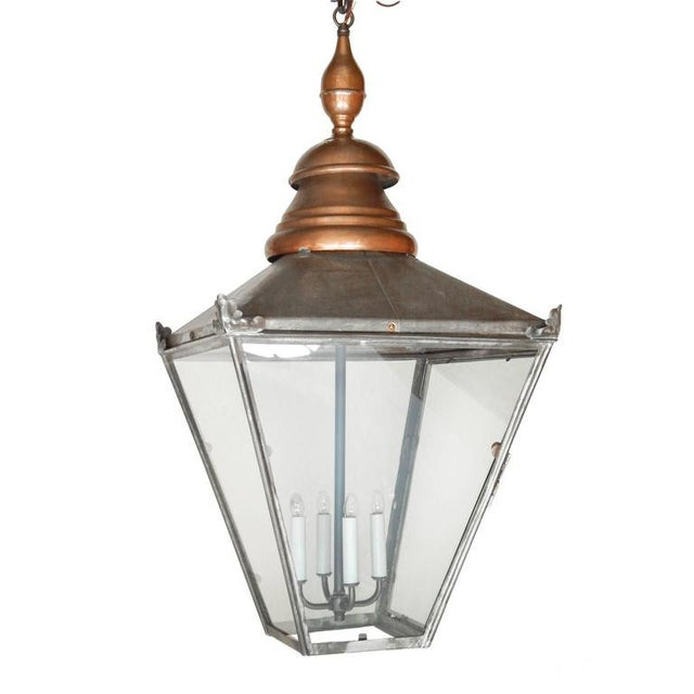 Large Copper and Zinc French Lantern - Image 4 of 8