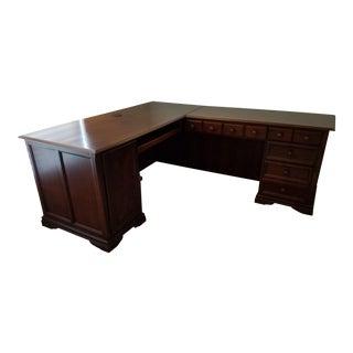Cherry Computer Desk: L-Shaped Corner Desk