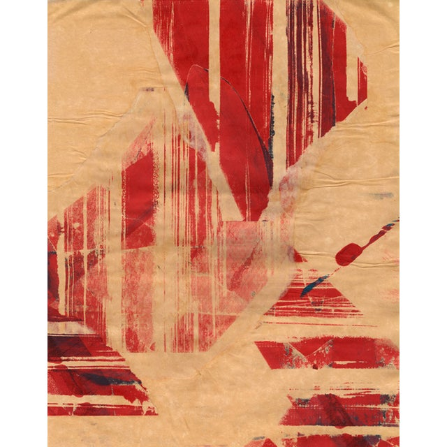 Image of Mixed Media Painting - Red Meets Blue No. 04