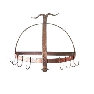 Copper Hand Forged Pot Rack