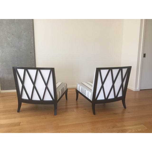 Jacque Garcia Slipper Chairs - A Pair - Image 3 of 8