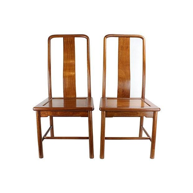Image of Modern Ming-Style Huali Chairs - A Pair