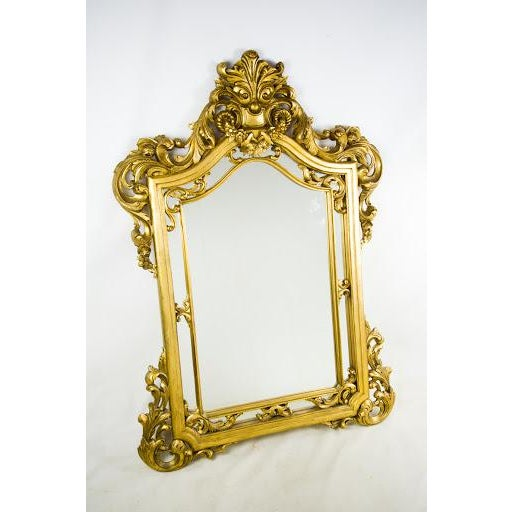Baroque-Style Carved Wooden Wall Mirror - Image 2 of 9