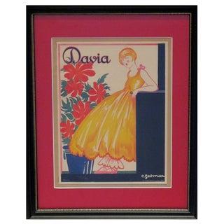 Framed Vintage British Advertisement Davia