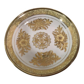 Japanese Yellow & Gold Brass Bottom Bowl