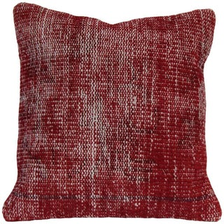 Vintage Red Handmade Overdyed Pillow Cover