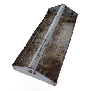 Gray Industrial Metal Tool Box Serving Tray
