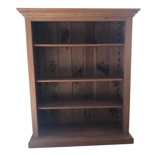 Rustic Waxed Pine Bookcase