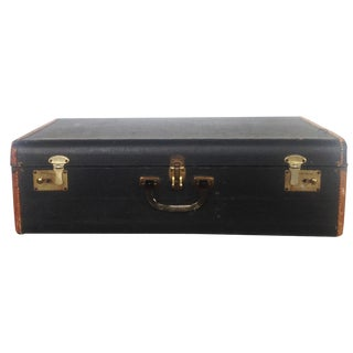 Vintage Black Suitcase With Lucite Handle