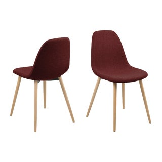 Burgundy Dining Chairs - Set of 4