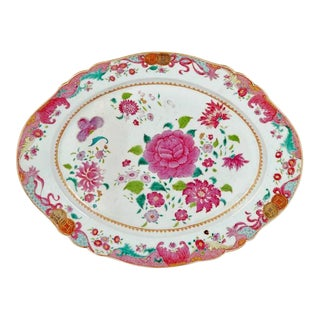 Chinese Export Porcelain Famille Rose Scalloped-Edged Dish