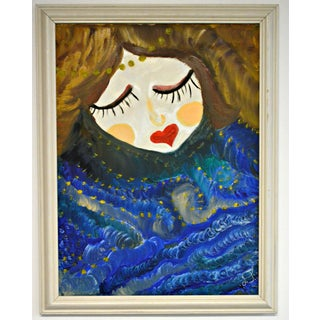 """""""Heart Mouth's Lady"""" Oil on Canvas Painting"""