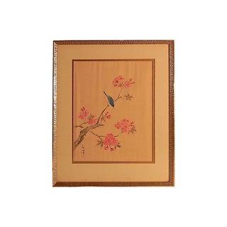Cherry Blossom Painting on Silk