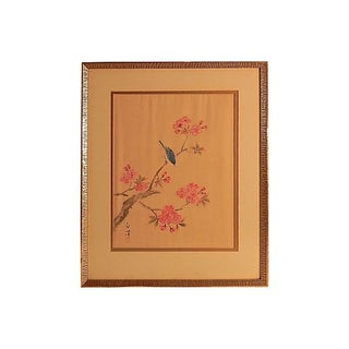 Cherry Blossom Painting on Silk