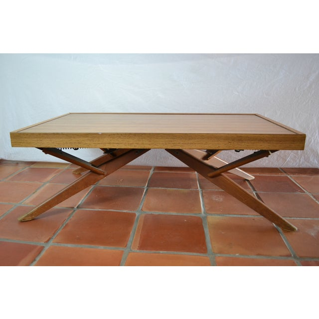 Mid-Century Convertible Castro Dining/Coffee Table - Image 9 of 11