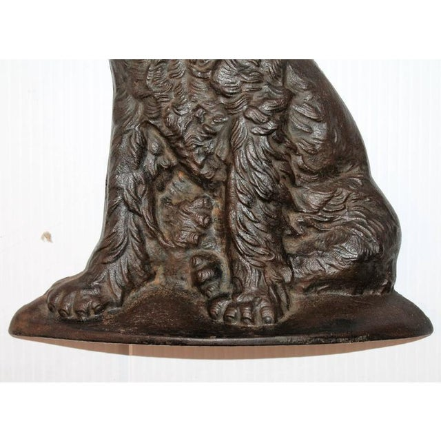 Monumental 19Thc Cast Iron Dog - Image 5 of 5