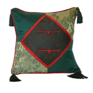Silk Handmade Brocade 16x16 Pillow