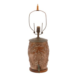 19th Century English Stoneware Liquor Barrel Lamp