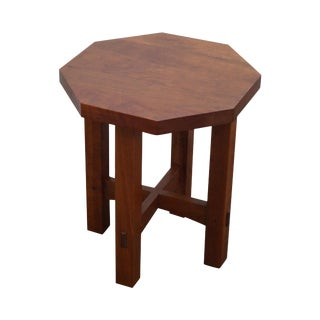 Stickley Mission Style Cherry Octagon Small Side Table Taboret Stand