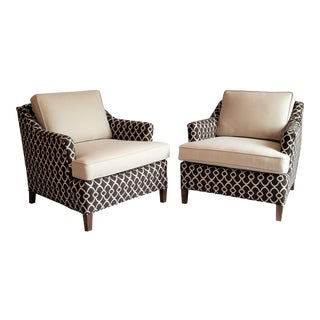 Low Slung Vintage Club Chairs - A Pair