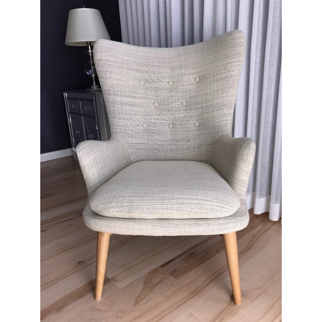 West Elm Wingback Chair - Image 6 of 6