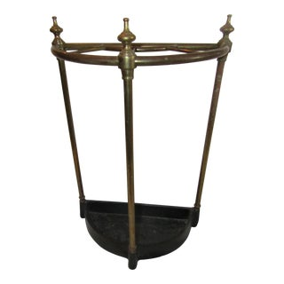 Vintage Copper, Brass & Iron Umbrella Stand